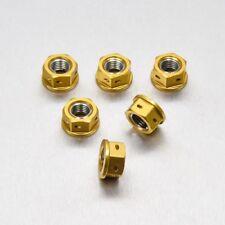 Pro-Bolt Aluminium Sprocket Nuts 10mm Set x 6 Drilled - Gold Ducati 999 02-05