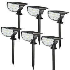 6W LED Solar Landscape Light Garden Pathway Outdoor Lamps 3000K 6000K Waterproof
