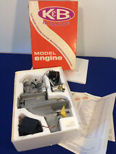 VINTAGE Unused - K&B 8701 Outboard Marine 7.5cc Engine - RC Boat Motor w/extras