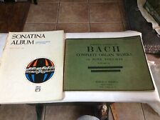 Vintage Lot of Three Collectible Song Books, Bach