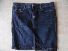 Converse One Star Dark Blue Modern Wash Knee Length Stretch Denim Jean Skirt 10
