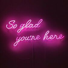 So Glad You're Here Neon Sign Acrylic Light Man Cave Open Bar With Dimmer