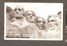 Vtg Postcard Mount Rushmore National Memorial Black Hills South Dakota Rppc Sd