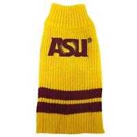 Arizona St. Sun Devils NCAA Pets First Dog Pet Acrylic Winter Sweater Sizes XS-L
