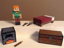 MINECRAFT FIGURE LOT SERIES 3 ALEX SURVIVAL PACK 2.75""