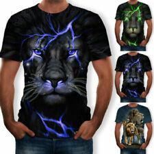 T-shirts à motif Imprimé animal en polyester pour homme