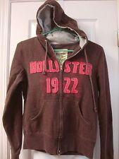 Womens jrs HOLLISTER brown hoodie zipper sweatshirt, size M