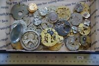 30 Antique Pocket Watch Plates (1046) Mechanisms Movements for Parts or Repair