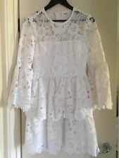 44fca8711c2fb Seed Heritage Bell Sleeved Frill White Floral Lace Spring Dress Size 8