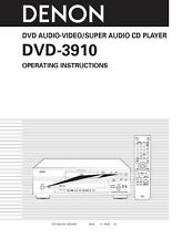 Denon DVD-3910 DVD Player Owners Manual