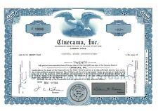 Stock Certificate of Cinerama, Inc.