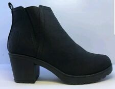 Krush Womens Chunky Black Ankle Boots Size UK 7