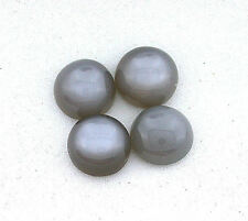 ONE 10mm Round Natural Gray Moonstone Cab Cabochon Gem Stone Gemstone EBS2945