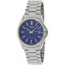 Casio Ladies Analogue Blue Dial Round Stainless Steel Quartz Wrist Water Resist