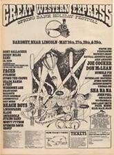Genesis Humple Pie Status Quo Slade Rory Gallgher show ad Time Out cutting 1972