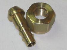 "Triumph Norton fuel Petcock Nut Brass Barbed Spigot 1/4"" BSP 82-3182 T120 TR6"