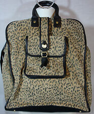 Jane Mayle Tirgretta Tote Bag Suede Large Purse Travel Luggage Animal Prnt NEW