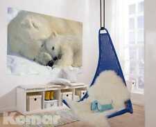 Fototapete National Geographic POLAR BEARS 184x127 Eisbärin mit Eisbär-jungem