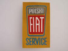 Vintage pre-1980s POLSKI FIAT SERVICE automobile patch MINT, unused!