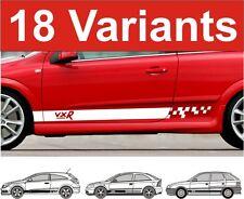 Opel Astra Seiten Streifen Aufkleber OPEL ASTRA VXR GSI Sri SXI Leiste Aufkleber