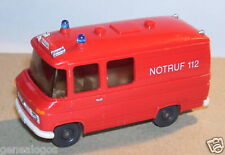 MICRO WIKING HO 1/87 FOURGON MERCEDES  L 406 POMPIERS NOTRUF 2