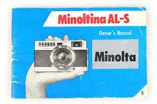 MINOLTA MINOLTINA AL-S MANUAL