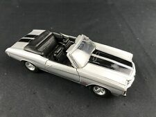 WELLY Silver and Black Stripes CHEVROLET CHEVELLE SS 454 Convertible 1:25 Scale