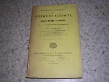 1909.règlement service campagne armée japonaise.Corvisart.Japon