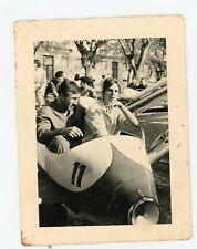 PHOTO SNAPSHOT - fête foraine manège ancien 1959