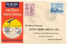 2415 MAURITIUS 1952 First Flight Qantas Empire Airways PORT LOUIS - JOHANNESBURG