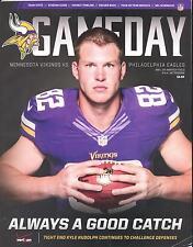 Minnesota Vikings Philadelphia Eagles 12/15/13 NFL Game Program...Kyle Rudolph