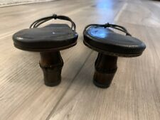 """Vintage GUCCI """"TOM FORD"""" BAMBOO HEELS Sandals 8.5"""