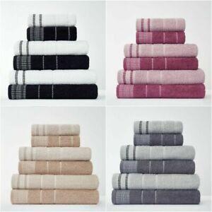 2pk Dalby 100% Egyptian Cotton 600GSM Soft Absorbent Hand Bath Towels Bath Sheet
