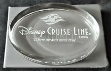 Disney Cruise Line Etched Glass Paperweight New
