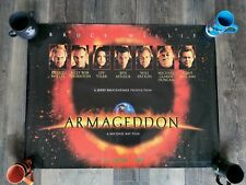 Very rare Armageddon Quad film Poster 1998 Bruce Willis