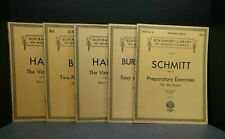 Lot 5 Schirmers Library of Musical Classics Instructional Self Teach Exercise 86