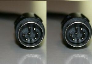 Din 8 (Large Din) 8 pin Male-Male 12 ft cable
