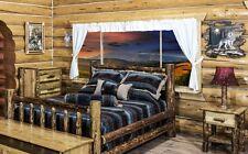 Log Bedroom Set, QUEEN Bed Frame, 5 Drawer Dresser, Nightstand, Amish Made Beds