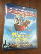 A Monster In Paris (3D Blu-ray 2D DVD ) Sealed Shark Tale