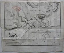 Tortosa Katalunya Tarragona asedio mapa  Orig Litografia 1840 Napoleon