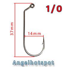 10 Jighaken | 1/0 | Gummifischhaken | Twisterhaken | Jigs | Angelhotspot X2