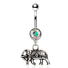 Indian Elephant Navel / Belly Bar - 10mm Surgical Steel Body Jewellery