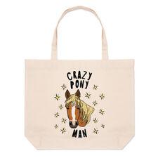 Crazy Pony hombre estrellas grandes playa Tote Bag-Gracioso Caballo De Hombro