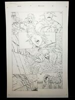 Warlands Issue #4 Page 16 Original Art Work by Pat Lee Dreamwave Productions!