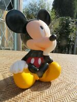 "Walt Disney Applause Mickey Mouse Toy Piggy Bank Plastic 8.5"" *VINTAGE*"