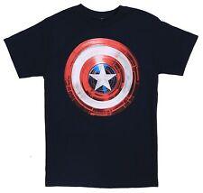 Marvel Comics Mad Engine Blue Captain America Tee Size S 100% Cotton T-Shirt