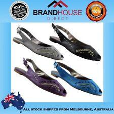 Buckle Leather Medium (B, M) Slingbacks Shoes for Women