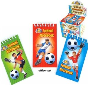 FOOTBALL Mini NOTEPADS Kids Boys Party Bag Fillers NOTEBOOK Loot