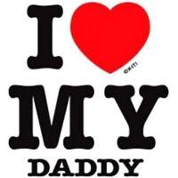 Valentine Daddy i love my Dad kid t-shirt one-piece infant toddler youth US sz >