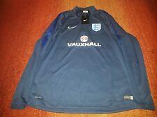 Official England Football Womens Blue Nike Zip Long Sleeve large Top bnwt